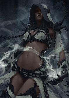 Dark Elf Mage - Concept 2 by *Arsinoes on deviantART