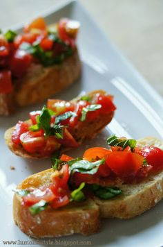 #Bruschetta tomato bread