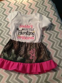 Hunting Princess Skirt and Shirt size new born up to size 12