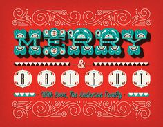Holiday Greeting Cards by Huilin Dai, via Behance