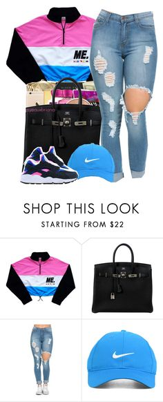 """""""Can't Trust Em // Zonnique"""" by yeauxbriana ❤ liked on Polyvore featuring Hermès, Nike Golf, women's clothing, women's fashion, women, female, woman, misses and juniors"""