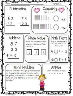 Math for second grade--Freebie