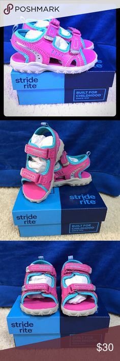 NWB Stride Rite Bliss Sandal Brand new in box!  Great shoe, my daughter loved hers.  These were the wrong size for the season.  Reasonable offers always considered via the offer button- especially if you bundle 💜💜 Stride Rite Shoes