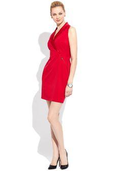 ideeli | MARC NEW YORK Sleeveless Satin Tuxedo Front Dress $69.99