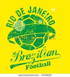 WORLD CUP 2014 Brazilian Football Retro Style Vector Art - 172796357 : Shutterstock