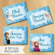 Risultati immagini per frozen party food labels free printable