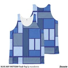 BLUE ART PATTERN Tank Top
