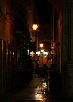Evening in Malaga, Spain