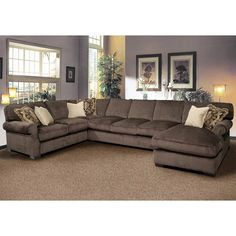 Grand Island Large, 7 Seat Sectional Sofa with Right Side Chaise - Ruby Gordon Home Furnishings - Sofa Sectional Rochester, Henrietta, Monroe County, New York