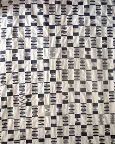 Africa | Wrapper Indigo and white Strip woven cotton man's cloth | Ewe People Ghana | Mid 20th cent.