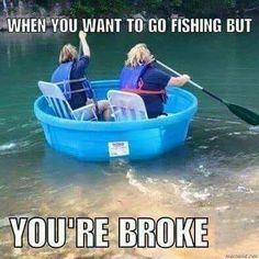 Fishing - #funny #fishing #brokefishing