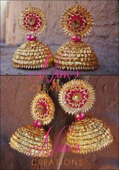 Gota Patti Jewellery, Thread Jewellery, Fabric Jewelry, Ethnic Jewelry, Indian Jewelry, Silk Thread Necklace, Rakhi Design, Bollywood Jewelry, Imitation Jewelry
