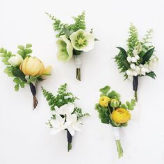 Cute little things. #springboutonniere