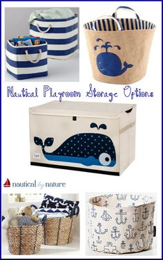 Nautical by Nature: nautical playroom storage options