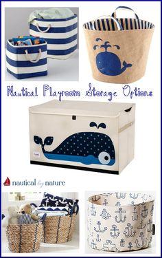 Nautical by Nature: nautical playroom storage options