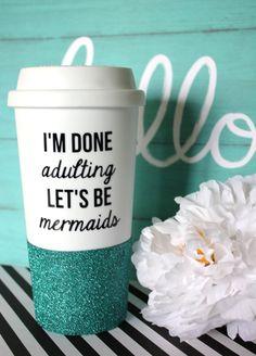 Mermaid Custom Glitter Tumbler Be A Mermaid Acrylic