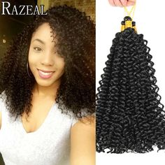 Razeal Hair Crochet Braiding Hair 14Inch Kinky Curly Crochet Braids Hair Freetress Water Wave Synthetic Braid Hair Extensions-in Bulk Hair from Beauty & Health on Aliexpress.com | Alibaba Group