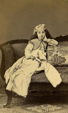 Young harem girl (Circassian) by Abdullah Frères