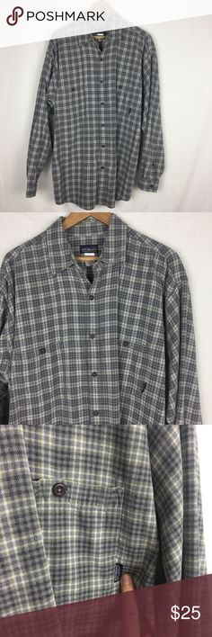 XL Patagonia 100% Organic Cotton Button Down Shirt Men's Patagonia green plaid button down shirt, size XL. Made with 100% organic cotton. No trades, but feel free to use the offer button. Thank you for browsing my closet. Patagonia Shirts Casual Button Down Shirts