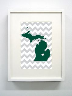 East Lansing, Michigan State Giclée Map Art Print  - 8x10 - Michigan State University Map Art - Spartans - MSU by PaintedPost on Etsy https://www.etsy.com/listing/120500744/east-lansing-michigan-state-giclee-map