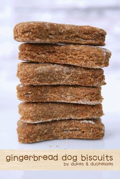 Gingerbread Dog Biscuits -  3 cups whole wheat flour 1/2 teaspoon ground ginger 1 teaspoon ground cinnamon 1/4 cup plus 1 tablespoon vegetable oil 1/2 cup molasses