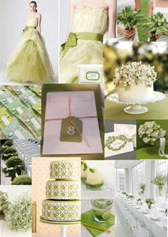 green wedding theme | Tumblr