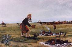 """CM - """"CALIENTANDO LOS GÜESOS"""" Gaucho, Cartoon, Painting, David, Folklore, Country Man, Horses, Culture, Buenos Aires Argentina"""