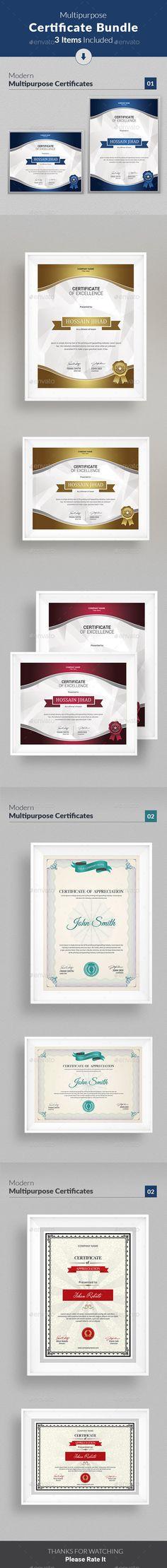Fashion Awards Certificates Ai illustrator, Certificate and - corporate certificate template