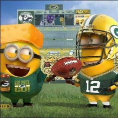 Minion Packers! via Green Bay Packers Memes on Facebook