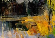 deep woods with yellow ~ oil ~ by forrest moses
