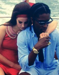 With A$AP Rocky for National Anthem video.