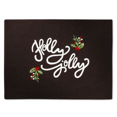 "Grey Holly Jolly Placemat (14""X19"") - Threshold™ : Target"