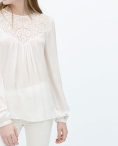 COMBINED LACE TOP - Tops - TRF   ZARA Serbia