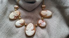 Antique Cameo Necklace in 14K yellow gold
