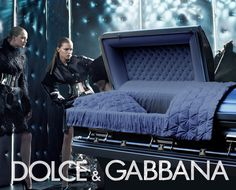 fashion and funerals - Dolce and Gabbana ad that uses a casket Editorial Design, Editorial Fashion, Human Life Cycle, Funeral Attire, Funeral Sprays, Death Becomes Her, Pet Sematary, Terry Richardson, After Life