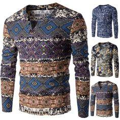 Men Brand V Neck Cotton Knitted Sweater