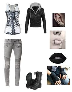 """Pierce"" by rainbowchanrawr on Polyvore featuring Balmain, Lime Crime and LE3NO"