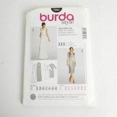Burda 7261 Evening Dress Size 10 12 14 16 18 20 22 Sleeveless Long Sleeve Uncut Check It Out French Cartoons, Evening Dresses Plus Size, Mccalls Sewing Patterns, Two Piece Dress, Size 10, Long Sleeve, Sleeves, Etsy, Gift