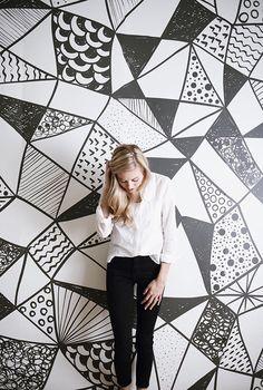 Design Dreaming: Watercolor Mural Wallpaper / Backdrop
