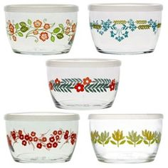 Vintage Flower Storage Bowls by Fishs Eddy $30