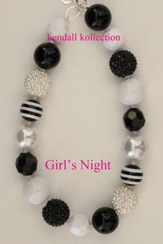 Girl's Night Chunky Beaded Necklace by theKendallKollection, $22.00