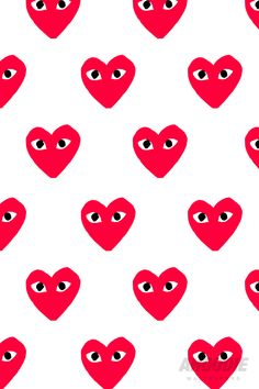 Comme des garçons pattern is full of love