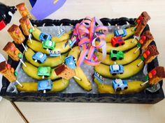 banaan met ontbijtkoek stoplicht
