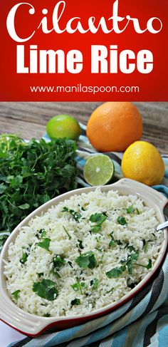 A combination of citrus juices make this Cilantro Lime Rice so tasty without being too tangy - so perfectly balanced. Everyone loves this and it's one of my oft-requested recipes! Easy to make, too!!