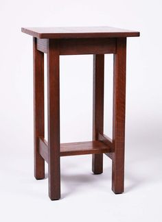 Ljg stickley clip corner lamp table signed with retailers tag no ljg stickley square drinkstand refinished signed aloadofball Image collections