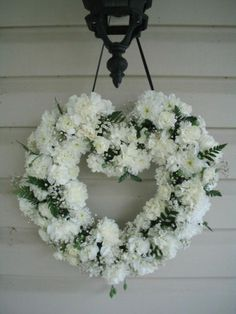 White wreath, great for wedding decor