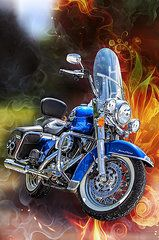 Road King Framed Prints - One Hell Of A Ride Framed Print by Bill Tiepelman