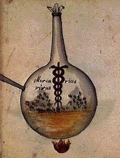 Alchemy:  Mercurius vivus.  An Alchemy artwork.
