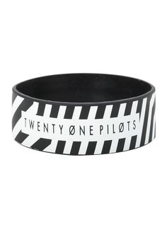 Twenty One Pilots Stripe Rubber Bracelet | Hot Topic
