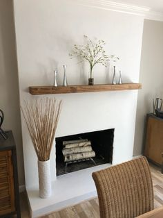 Fireplace Mantel Rustic Fireplace Mantel Rustic Wood Mantle Real Wood Mantle Modern Mantle Contemporary Mantle Mantle Decor Mantle Home contemporary fireplace Stucco Fireplace, Rustic Fireplace Mantels, Home Fireplace, Fireplace Remodel, Fireplace Design, Concrete Fireplace, Wooden Mantle, Farmhouse Fireplace